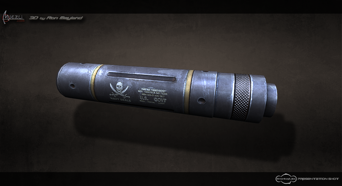 Walther pkk Silencer Texture test 2 by Ron Mayland